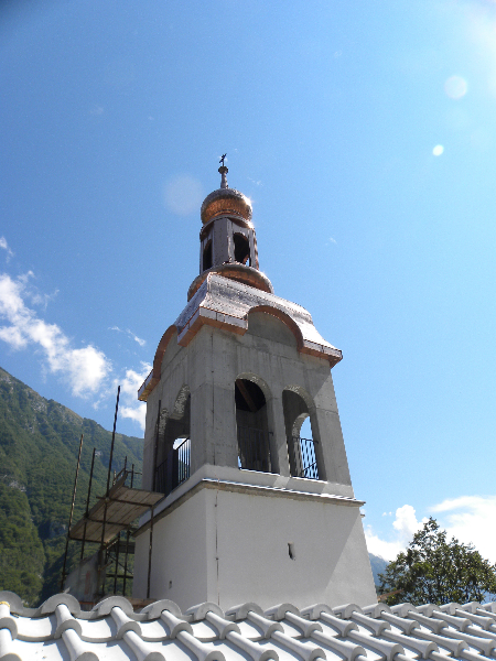 Post earthquake renovation of the church of Sv. Marija in Bovec