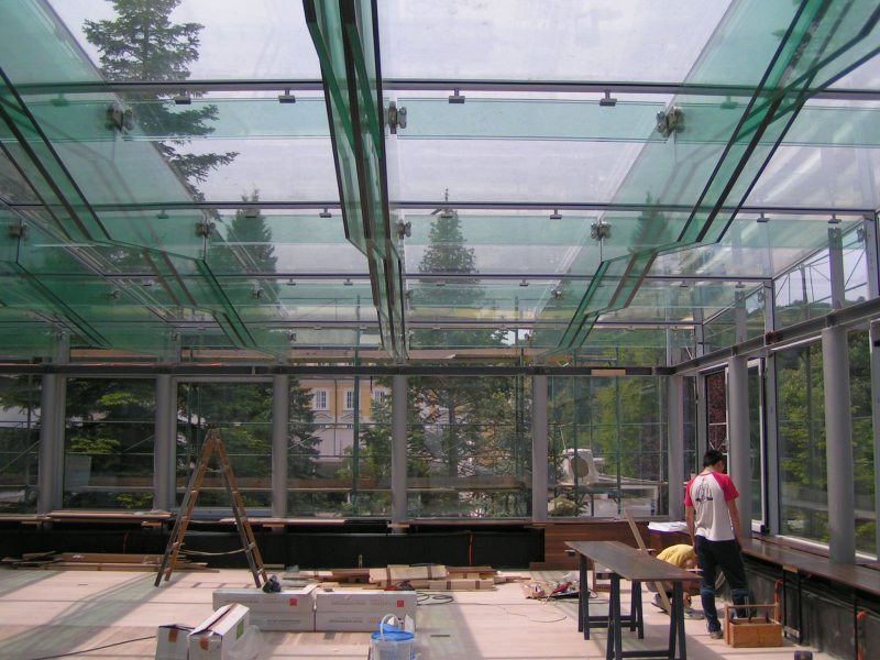 Glass roof in Hotel Donat, Rogaška Slatina